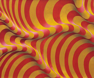 Ondulação em amarelo, dourado e vermelho - Yuli Geszti