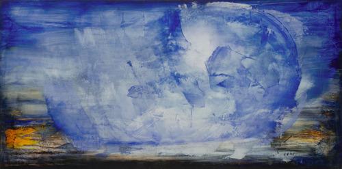 Benção / Anjo em azul, marrom e amarelo - Carlos Araújo