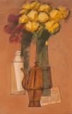 Flores amarelas, bule, etc. - Carlos Scliar