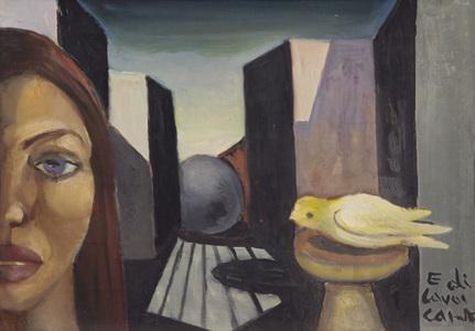 Mulher e pássaro - Di Cavalcanti, Emiliano