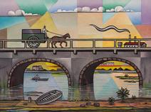 Antiga ponte sobre o Rio Tietê - Odetto Guersoni