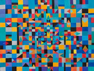 Tangram em azul - Marysia Portinari