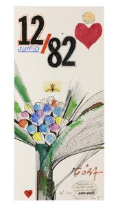 Cartão para Cora 1982 - Aldemir Martins