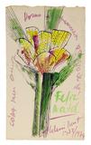 Cartão para Cora 1973/74 - Aldemir Martins