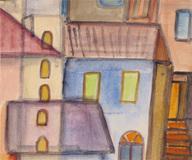 Casa azul com janelas verdes - Alice Brill