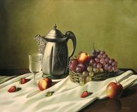 Bodegon con jarra y frutera - Luis Núñez