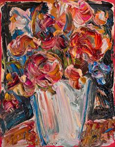 Vaso com flores - Sou Kit Gom