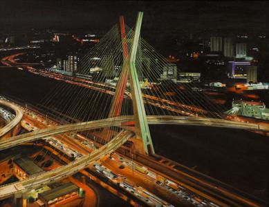 Ponte Estaiada - Vista noturna - Carlos Eduardo Zornoff