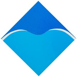 Azul, azul claro, areia - Hercules Barsotti