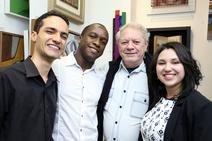 Bruno, Adalberto, José Hermes e Debora