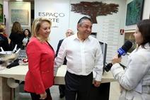 Denise, Mayer e Reporter TV Shalom Brasil