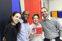 Roberta Araujo, Adalberto, Hilda Araujo e Diego