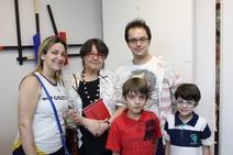 Luzia Portinari com convidados